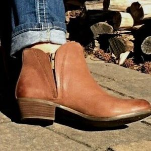 Lucky Brand Brown Leather Ankle Boots